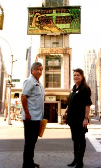 In Times Square with Cesar Chavez